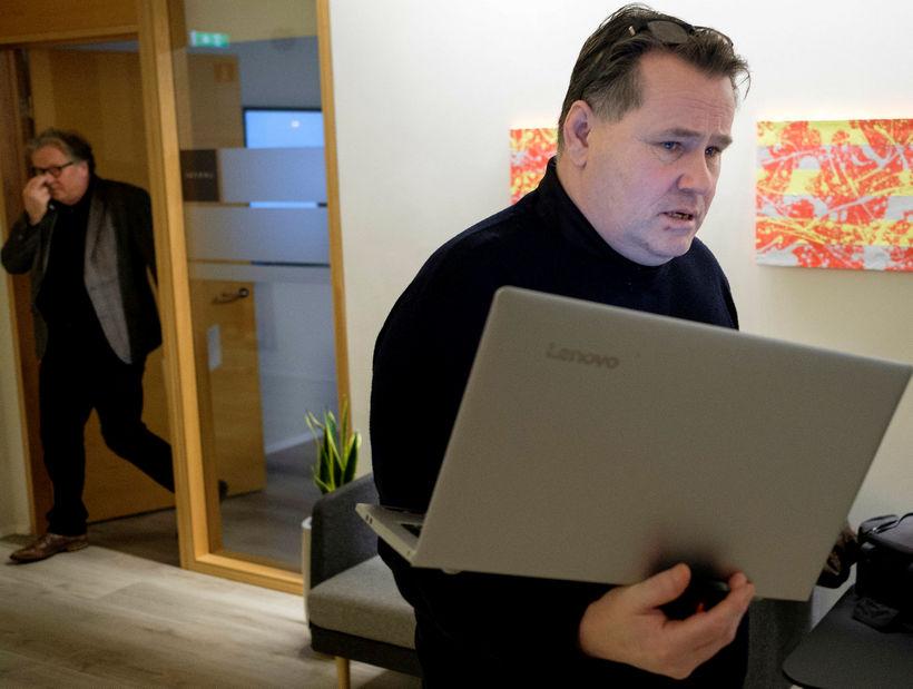 Vilhjálmur Birgisson, formaður VLFA, í húsakynnum ríkissáttasemjara.