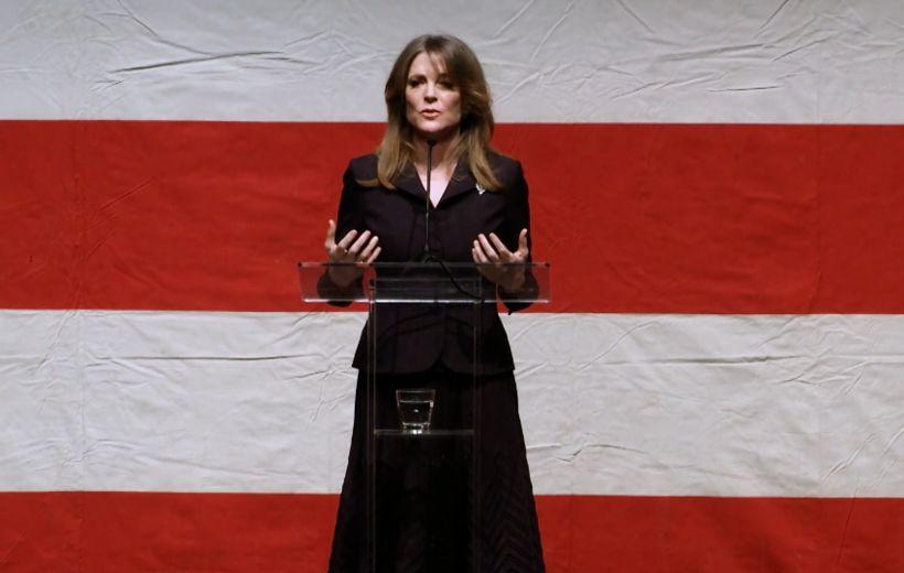 Marianne Williamson býður sig fram sem forsetaefni demókrata í forsetakosningunum ...
