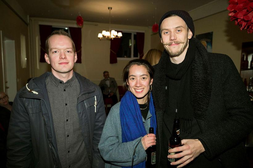 Jónas Reynir Gunnarsson, Hulda Katarína Sveinsdóttir og Hjálmar Kakali Baldursson.