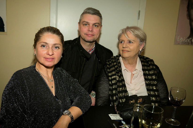 Sigríður Lovísa, Davíð Torini og Margrét Gústafsdóttir.
