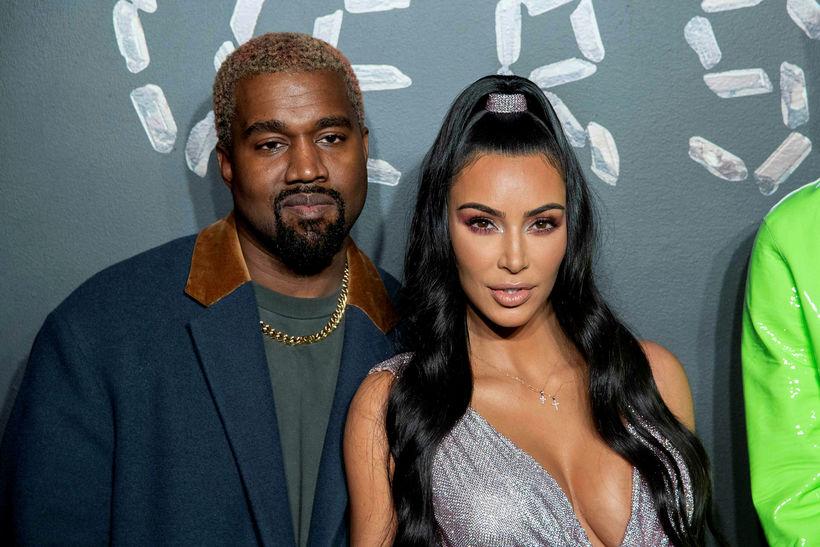 Hjónin Kanye West og Kim Kardashian.
