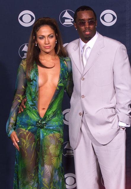 Jennifer Lopez og Puff Daddy mættu saman sem par á ...