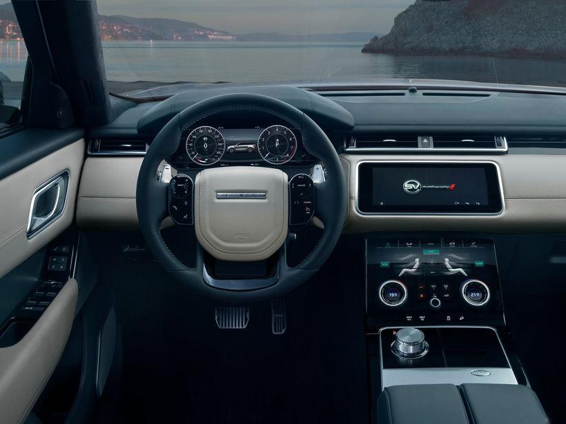 Ekki slorleg vinnuaðstaða í Land Rover Range Rover Velar SVAutobiography ...