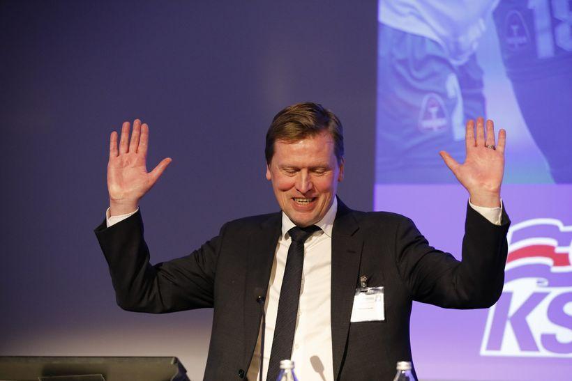 Geir Þorsteinsson þurfti að játa sig sigraðan í dag.