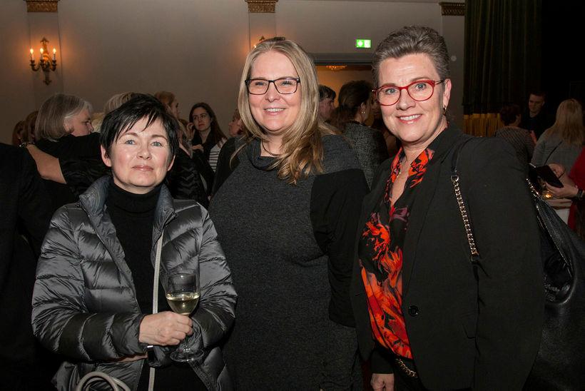 Lára Eggertsdóttir, Rannveig Grétarsdóttir og Bára Einarsdóttir.