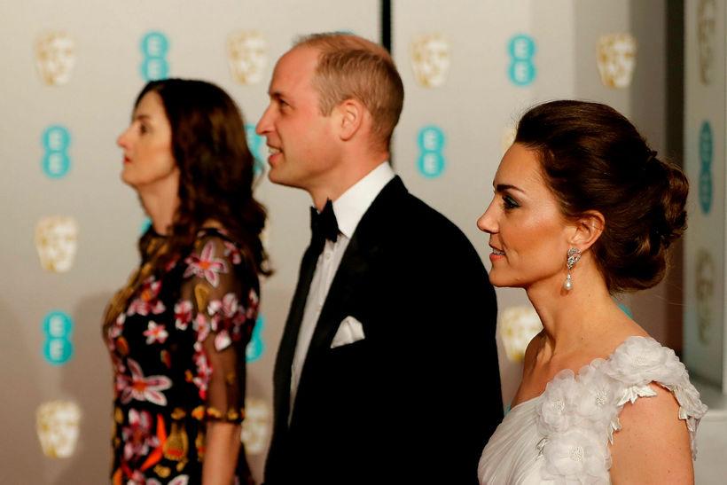 Vilhjálmur og Katrín eru mætt á BAFTA.