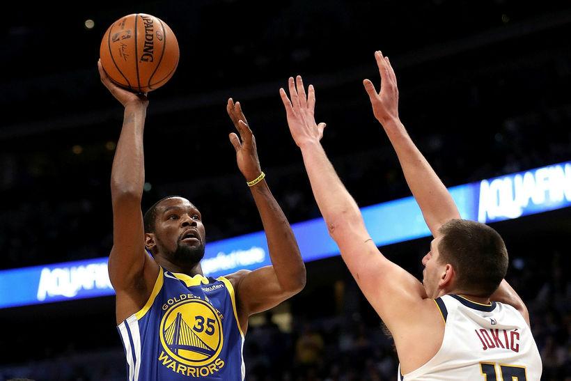 Kevin Durant skoraði 39 stig í sigri Golden State í ...