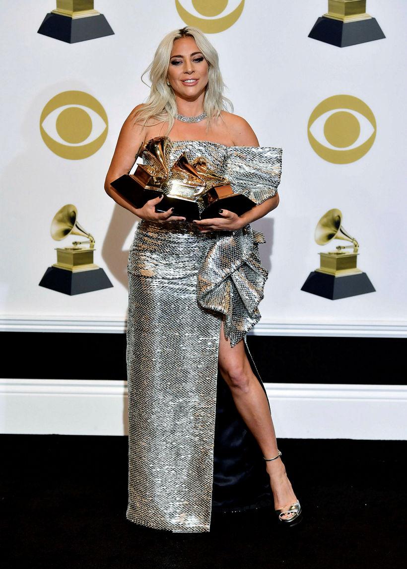 Lady Gaga í kjól frá Celine.