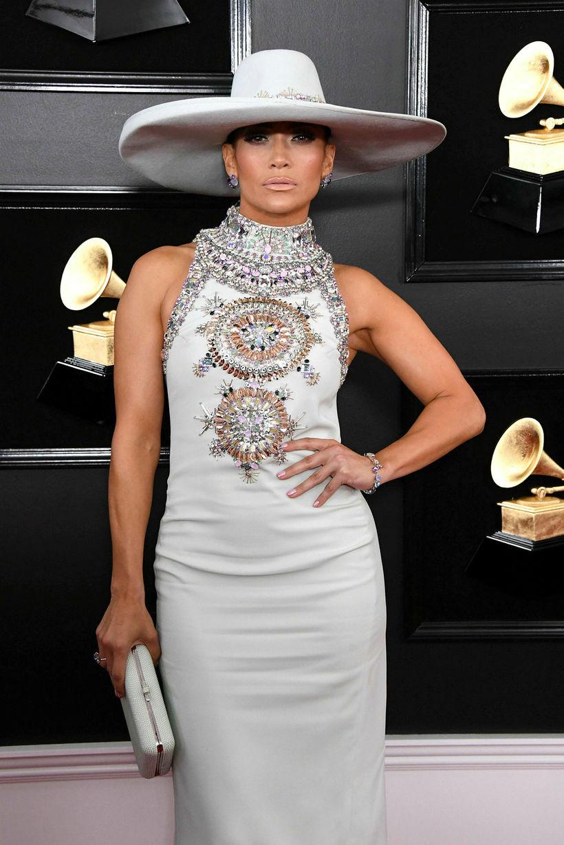 Jennifer Lopez í kjól frá Ralph & Russo árið 2019.