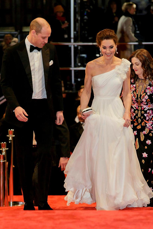 Vilhjálmur og Katrín mættu í sínu allra fínasta á BAFTA.