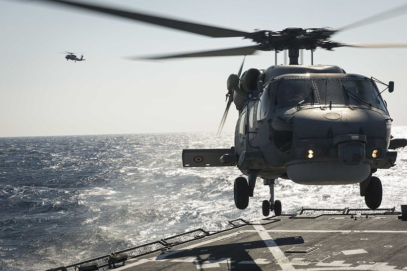Tyrknesk herþyrla af gerðinni S-70B Seahawk.
