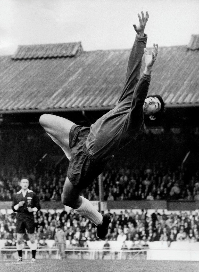 Gordon Banks í leik með Stoke City.