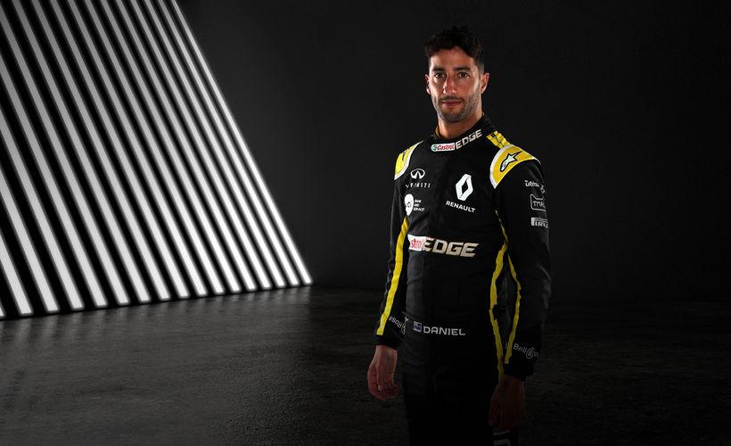 Daniel Ricciardo í herklæðum Renaultliðsins.