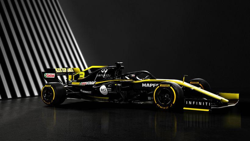 Keppnisbíll Renault í formúlu-1 í ár, 2019.