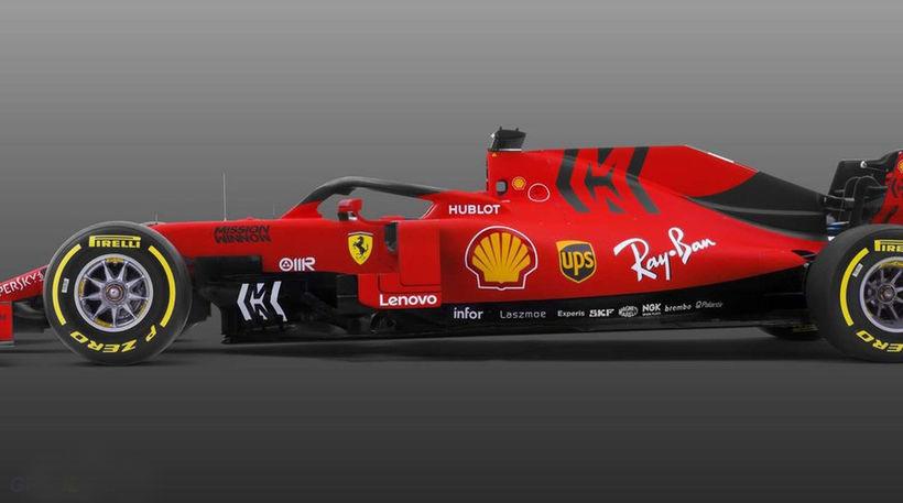 Ferrarifákurinn 2019 á frumsýningunni í morgun.