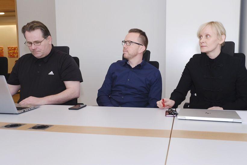 Forystufólk VR, Eflingar og Verkalýðsfélags Akraness á fundi með Samtökum …