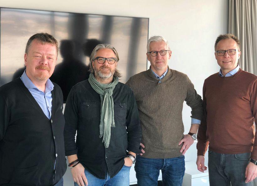 Hilmar Sigurðsson, forstjóri Sagafilm, Ragnar Agnarsson, leikstjóri/framleiðandi hjá Sagafilm, Óskar ...