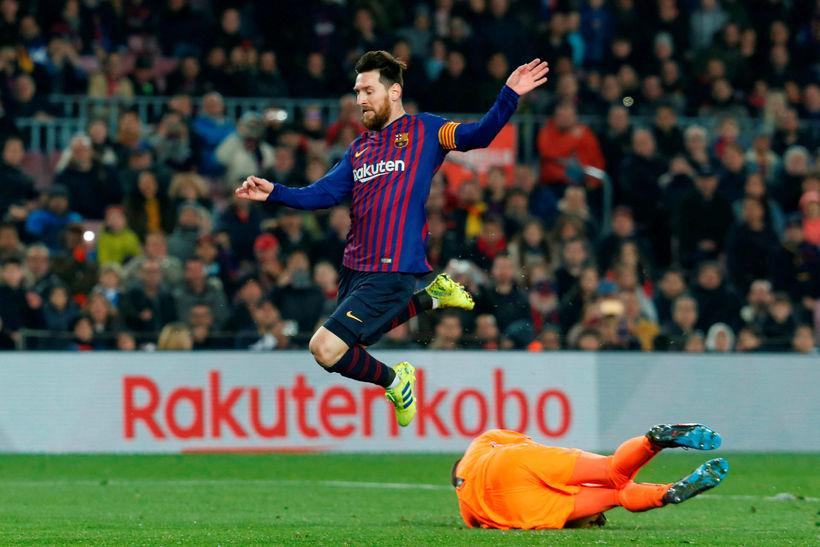 Lionel Messi skoraði og klikkaði á vítaspyrnu.