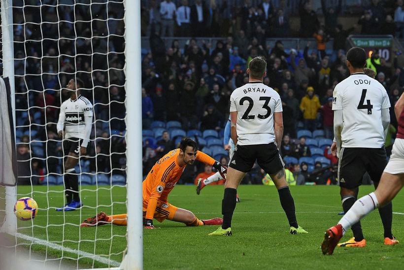 Fulham í leik í ensku úrvalsdeildinni.