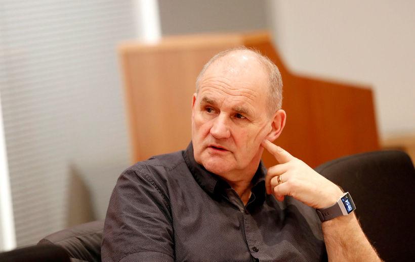 Björn Snæbjörnsson, formaður Starfsgreinasambandsins, á fundinum í morgun.
