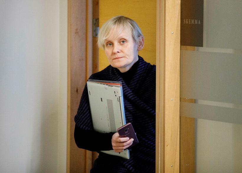Sólveig Anna Jónsdóttir, director of the Efling union.