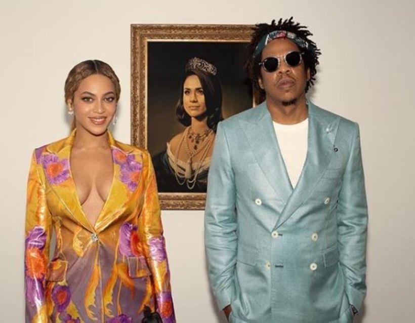 Beyoncé og Jay-Z vöktu athygli á myndbandi með Meghan Markle-mynd ...