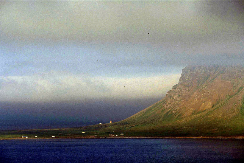 Siglufjörður is a small fishing town in a narrow fjord ...
