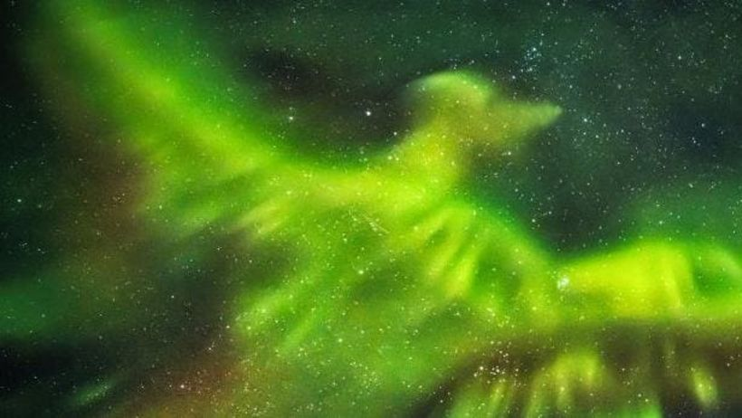 Nasa Publishes Photo Of Dragon In Iceland S Northern Lights