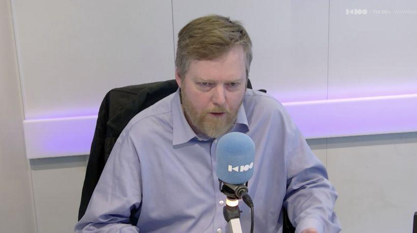 Sigmundur Davíð Gunnlaugsson, formaður Miðflokksins, í Þingvöllum í dag.
