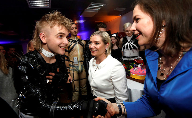 Hatari meet Minister of Education, Lilja Alfreðsdóttir and First Lady ...