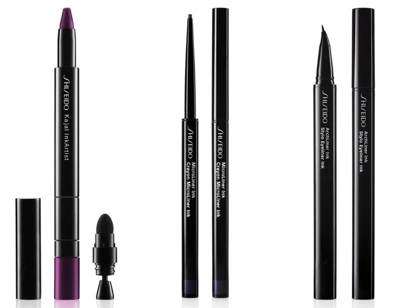 Shiseido Kajal InkArtist Pencil, Shiseido Microliner Ink og Shiseido Archliner ...