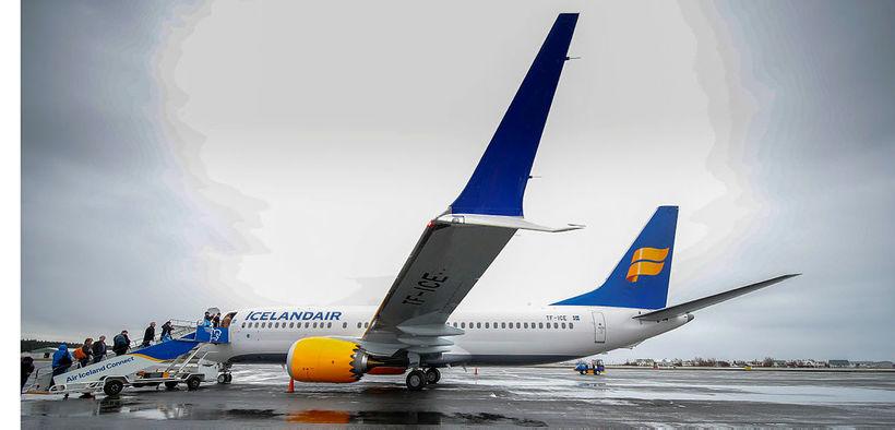Þota Icelandair af gerðinni Boeing 737 MAX-8.