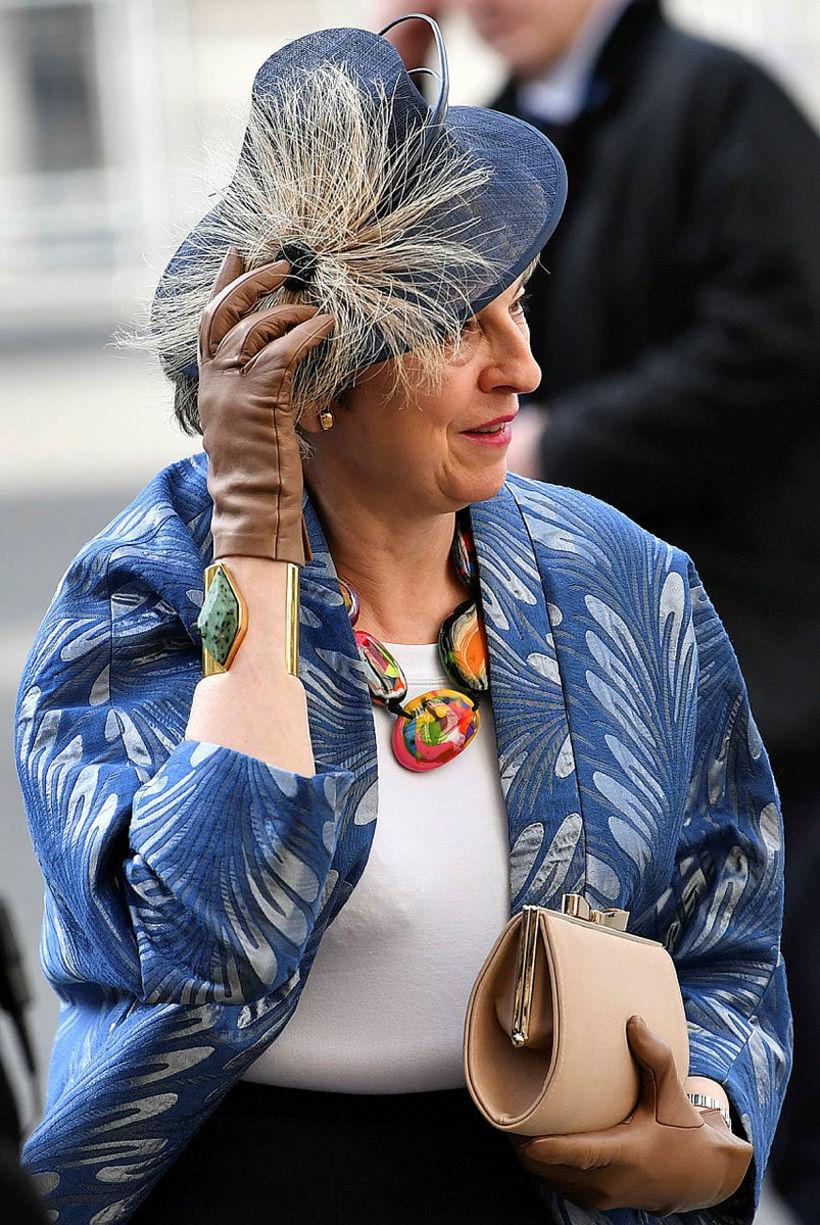 Theresa May var með flottasta hattinn.