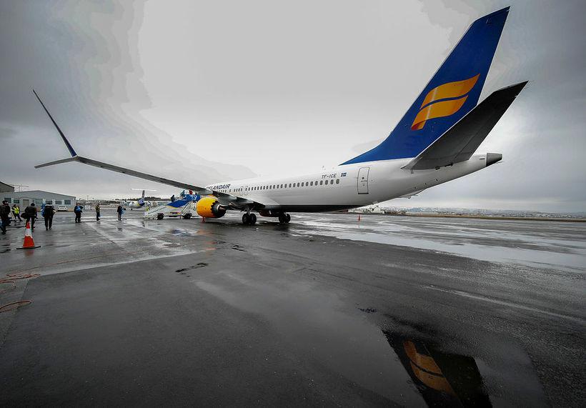 Þota Icelandair af gerðinni Boeing 737 MAX.