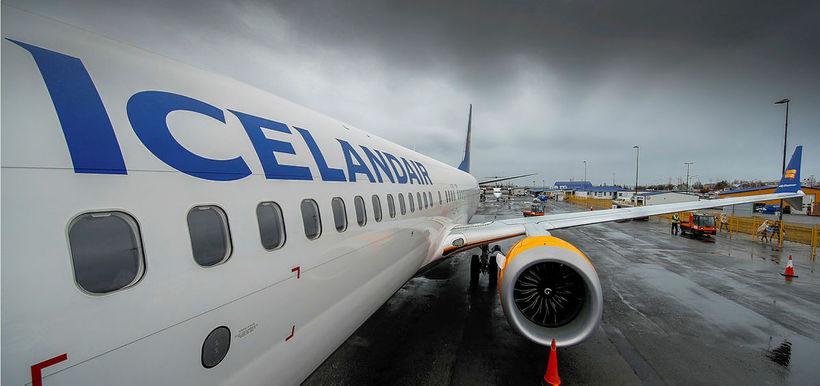 Boeing 737 max 8-vél Icelandair.