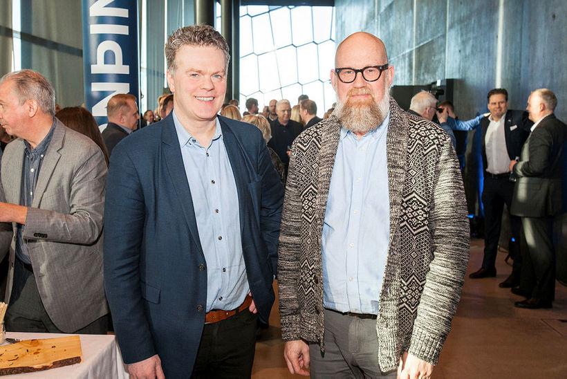 Halldór Halldórsson, forstjóri Íslenska kalkþörungafélagsins, og Heiðar Ingi Svansson, framkvæmdastjóri …