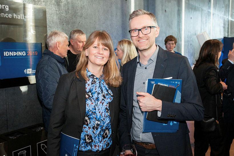 Tinna Traustadóttir hjá Landsvirkjun og Karl Guðmundsson hjá Íslandsstofu.