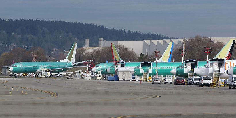 Boeing 737 MAX 8-farþegaþotur hafa verið kyrrsettar víða um heim.