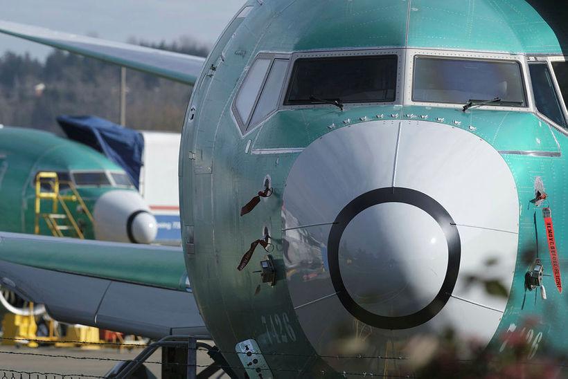 Boeing 737 MAX 8-farþegaþotur verða sjaldséðar í háloftunum á næstunni.