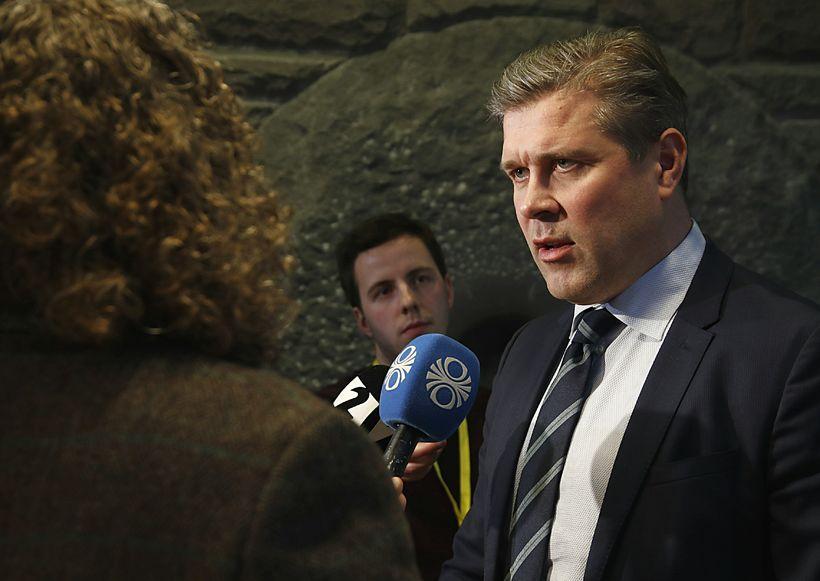 Bjarni Benediktsson fjármálaráðherra ræðir við fjölmiðla í dag.