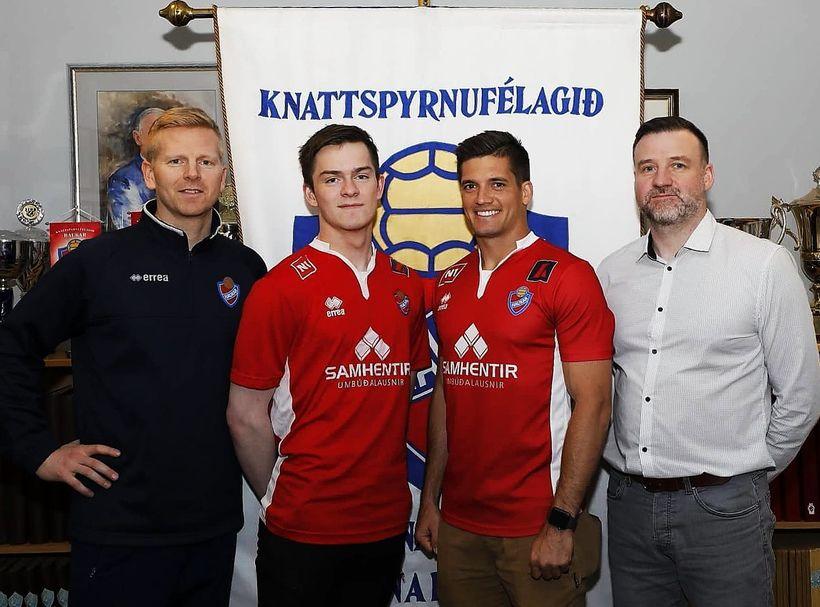 Kristján Ómar Björnsson þjálfari, Frans Sigurðsson, Sean de Silva og ...