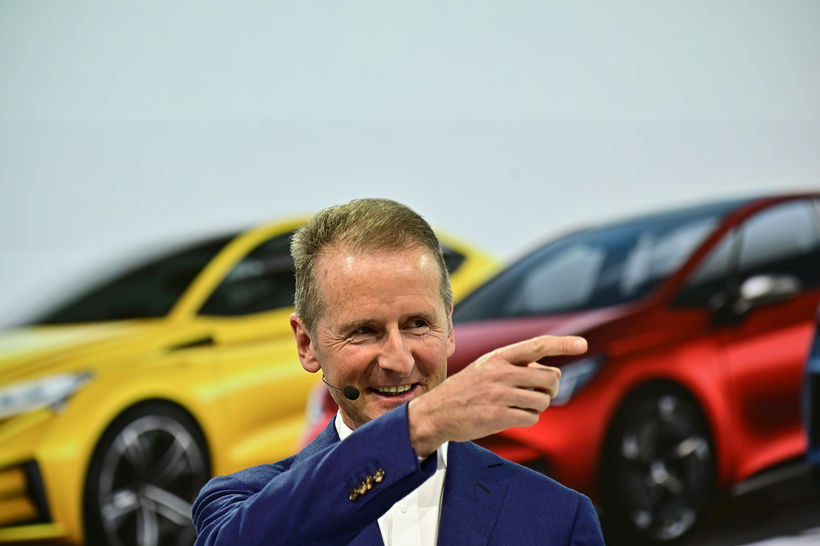 Herbert Diess tók við forstjórastarfinu hjá Volkswagen í fyrra.