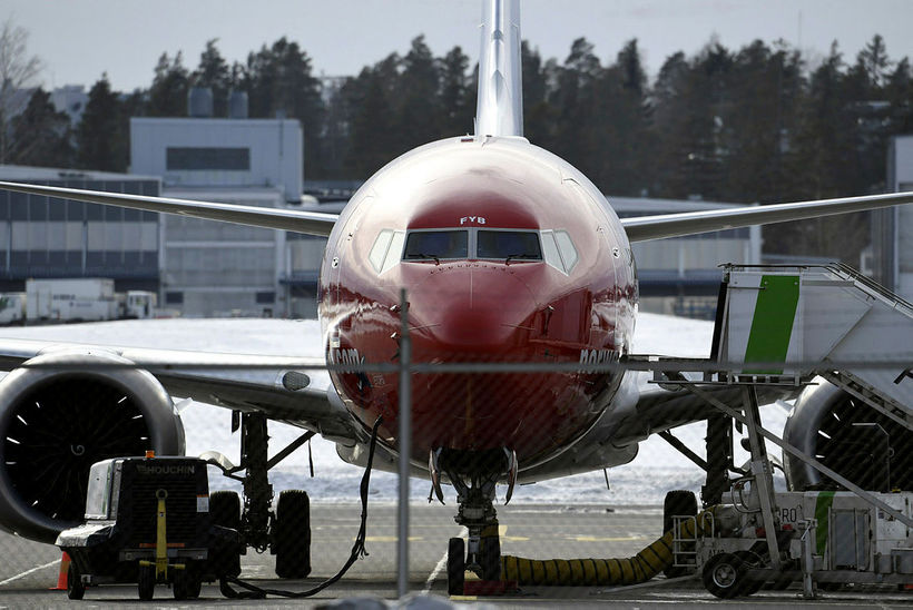 Kyrrsett Boeing 737 Max 8-farþegavél Norwegian Air Shuttle.