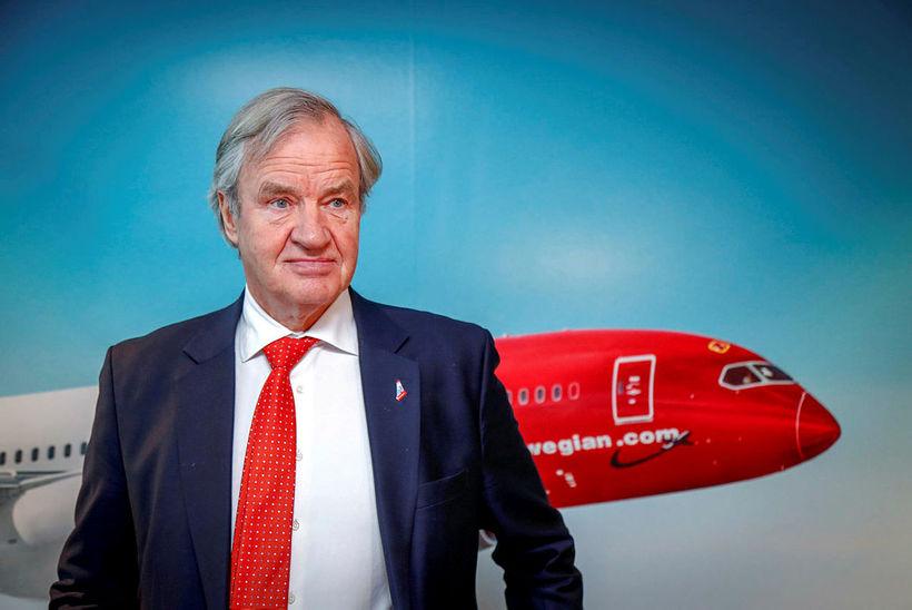 Bjørn Kjos lét af störfum sem forstjóri Norwegian í morgun.