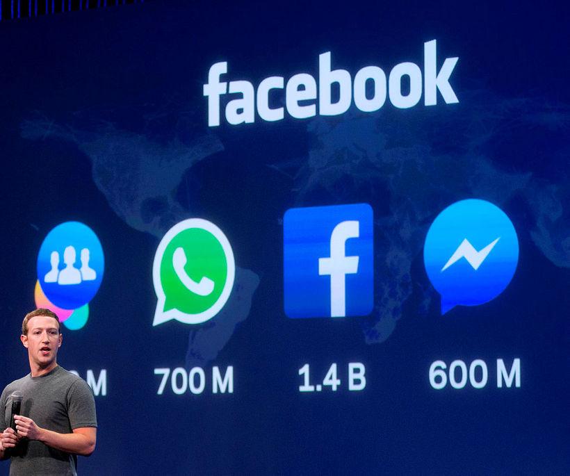 Mark Zuckerberg, forstjóri og stofnandi Facebook, og samstarfsfólk hans mun ...