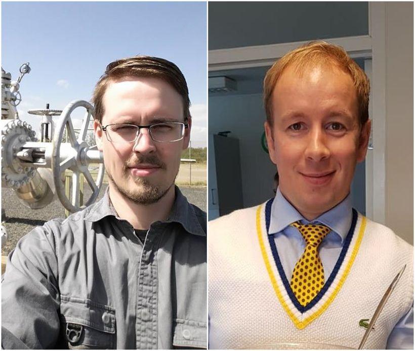 Verkfræðingarnir Lárus Guðmundsson (t.v.) og Jón Bergmann Heimisson (t.h.) stofnuðu …