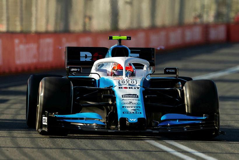Robert Kubica á Williamsbílnum í Melbourne.
