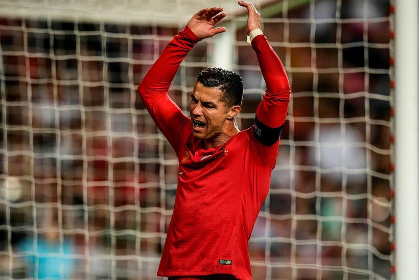 Cristiano Ronaldo átti ekki gott kvöld.