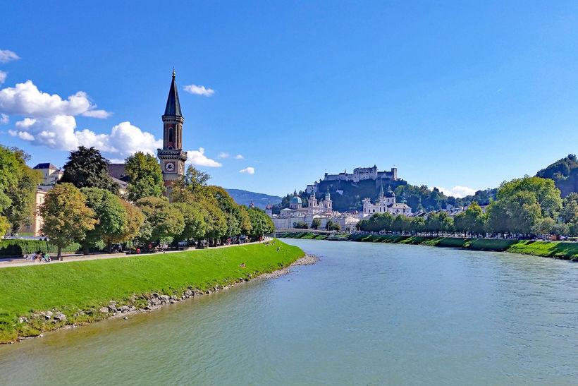 Salzburg í sinni fegurstu mynd.