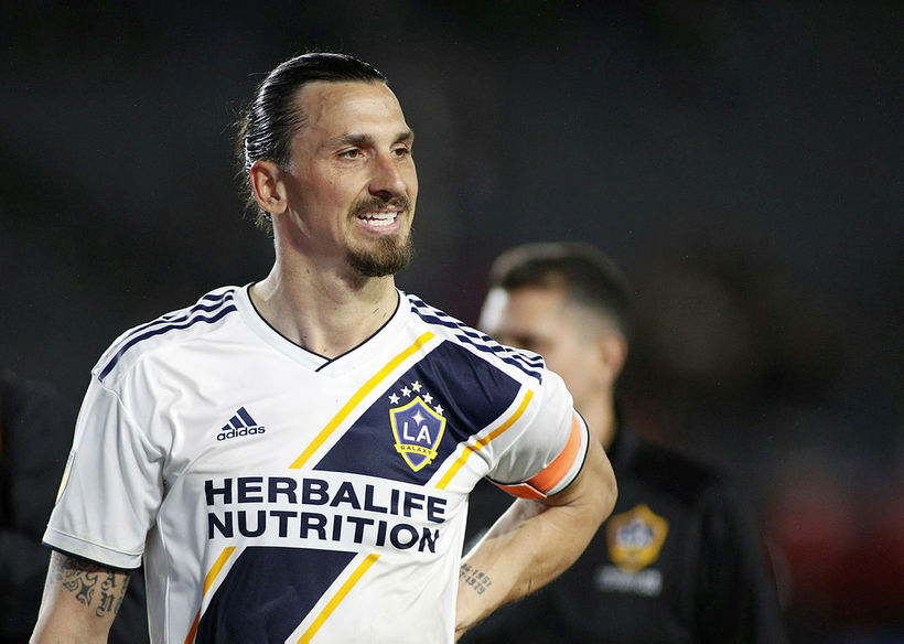 Zlatan Ibrahimovic í leik með LA Galaxy.